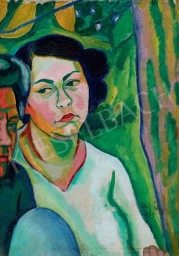 Czigány Dezső - Feleségem (Trebitzky Mária és Pfeiffer Johanna képmása), 1909