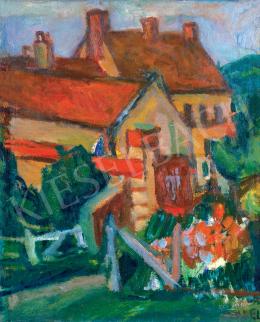 Czóbel Béla - Sárga házak, piros háztetők, 1927