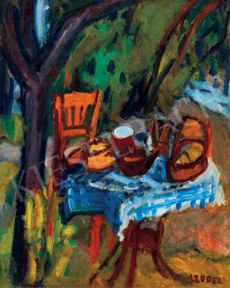 Czóbel Béla - A művész reggelizőasztala, 1925 körül