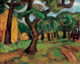 Czóbel Béla - Táj fákkal (Parkrészlet), 1930 körül