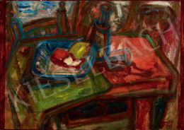 Ámos Imre - Szalonnás csendélet festőpárral, 1942