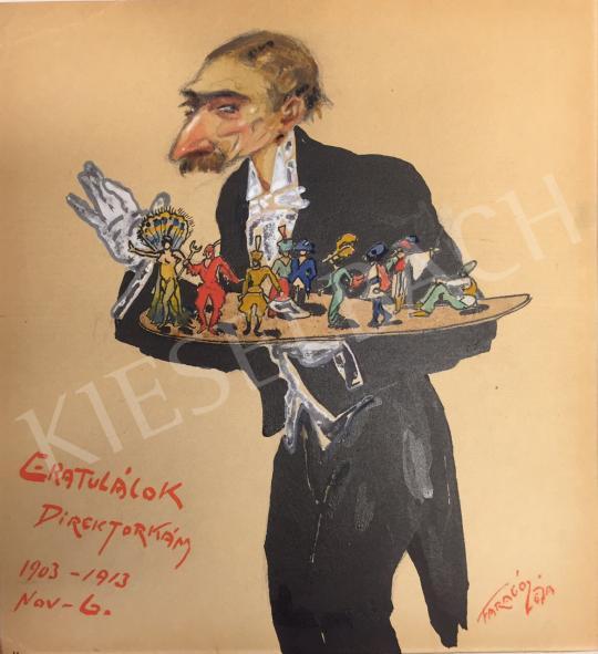 Eladó  Faragó Géza - Varieté-előadás után, 1913 körül festménye