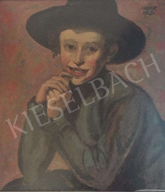 Eladó  Kádár Béla - Kalapos fiú, 1910 körül festménye