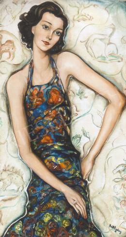 Batthyány Gyula - Fiatal lány portréja (1930-as évek)