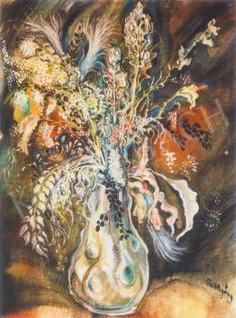 Batthyány Gyula - Virágcsendélet vázában (1935 körül)