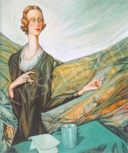 Batthyány Gyula - Odescalchiné Andrássy Klára portréja (1933)