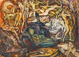 Batthyány Gyula - Kompozíció aktokkal (Megifjodás tava) (1928 körül)