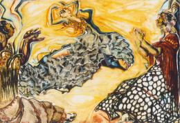 Batthyány Gyula - Spanyol táncosnők (1934 körül)