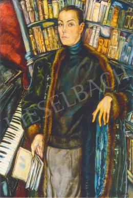 Batthyány Gyula - Férfi könyvtárszobában (1930-as évek)