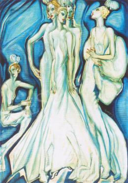 Batthyány Gyula - Mondén hölgyek fehér estélyiben (1934 körül)