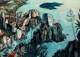 Batthyány Gyula - Dalmát tengerparti táj (1933 körül)