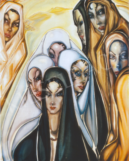 Batthyány Gyula - Las Palmas-i nők (1934 körül)