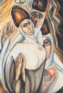 Batthyány Gyula - Szerb szerzetesnők (1933 körül)