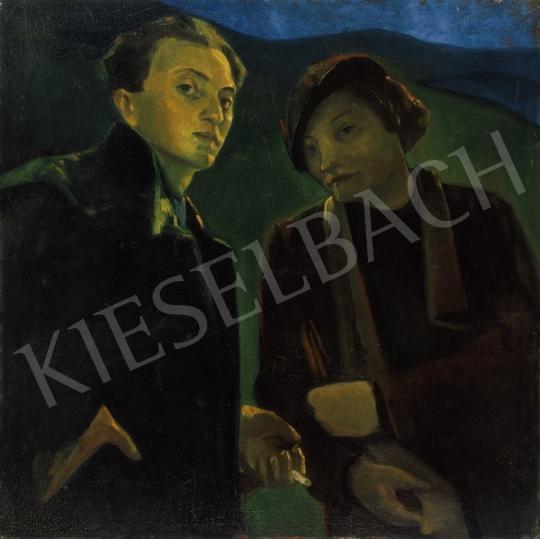 Hegedűs Endre - Önarckép a művész menyasszonyával | 24. Aukció aukció / 193 tétel
