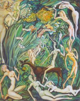 Batthyány Gyula - Nimfák az erdőben (1930-as évek)
