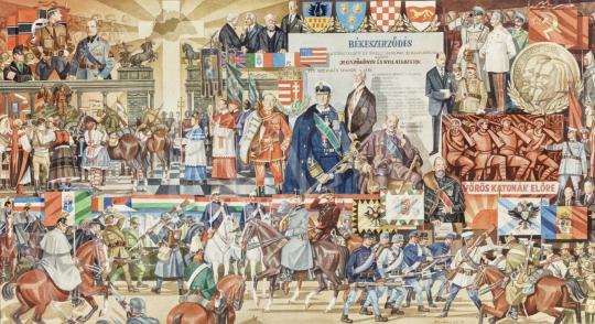 Eladó  Kósa Ferenc - Magyarország az első világháborútól a másodikig, 1976-77 - 5 DB EGYÜTT ELADÓ festménye