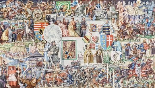 Eladó  Kósa Ferenc - A veresegyházi királyoktól Mohácsig, 1975 - 5 DB EGYÜTT ELADÓ festménye