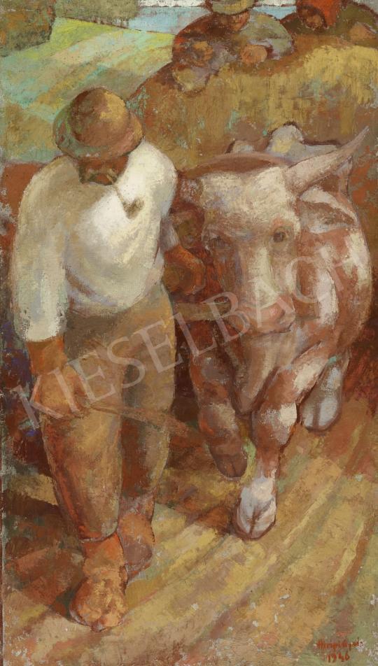 Eladó  Hiripi Gyula - Ökörfogat hazafelé festménye