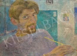 Böhm, Lipót (Poldi, Dávid Ferenc) - Self-Portrait, end of the 1940s