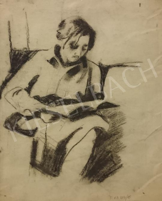 For sale Schubert, Ernő - Reading Woman 's painting