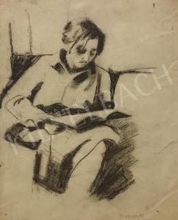 Schubert Ernő - Olvasó nő