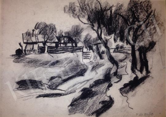 For sale Schubert, Ernő - Landscape with Houses 's painting