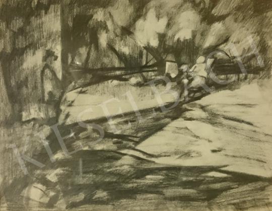 Eladó Schubert Ernő - Udvaron festménye
