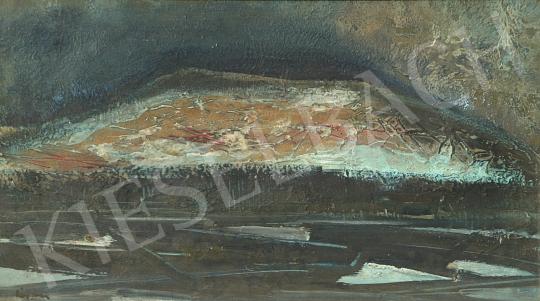Eladó  Áron Nagy Lajos - Jeges tó festménye