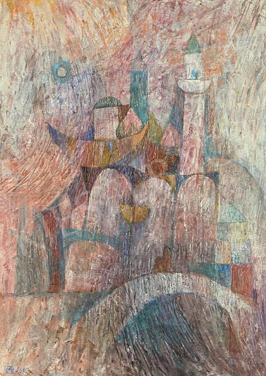 Eladó  Hegedűs Miklós - A láthatatlan város II. festménye