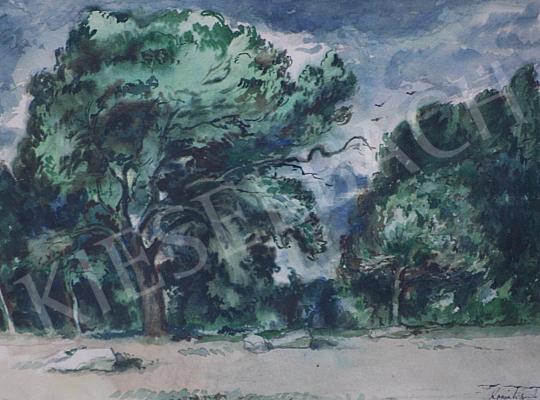 Eladó Komjáti-Wanyerka Gyula - Erdőrészlet festménye