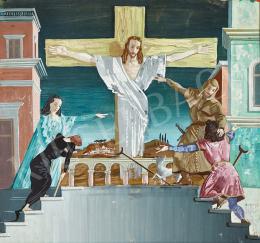 Molnár C. Pál - Krisztus a kereszten, 1945