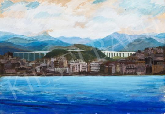 Eladó  Károlyi Ernő - Tengerparti város festménye