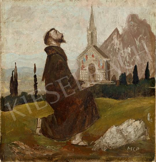 Molnár C. Pál - Felajánlás festménye