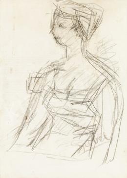 Czóbel Béla - Női portré