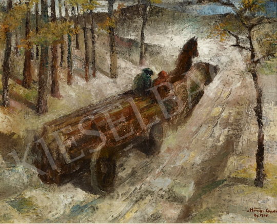 For sale  Hiripi, Gyula - Wintry Forest, 1945 's painting