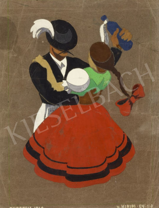 For sale  Hiripi, Gyula - Plan for a Poster, 1940 's painting