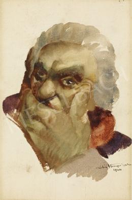 Hiripi Gyula - Öregember portréja, 1944