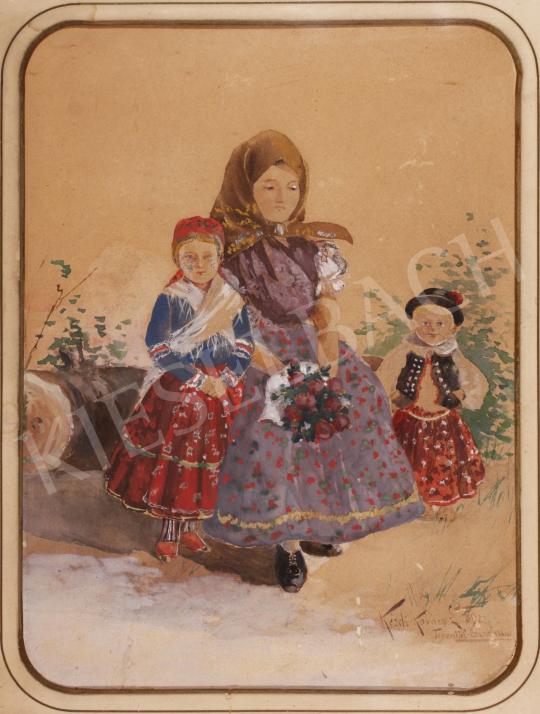Eladó Kézdi-Kovács László - Torontúl Erzsébet lánya, 1892 festménye