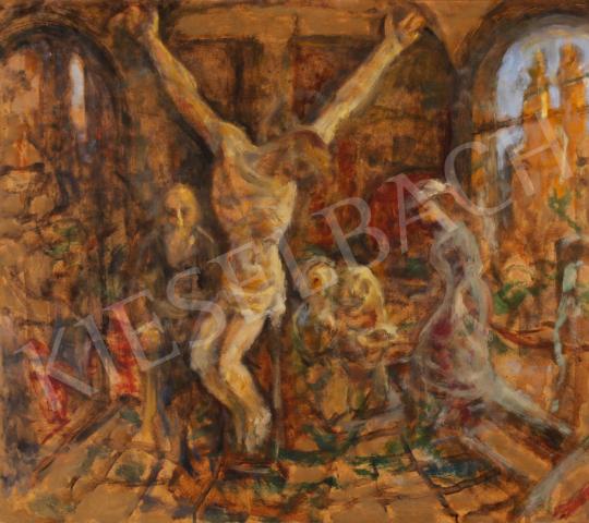 Eladó  Szabó Vladimir - Krisztus nálunk festménye
