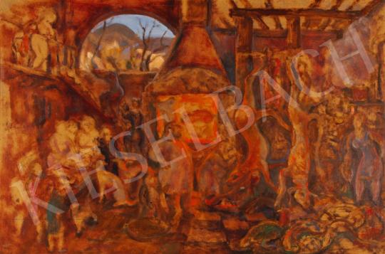 Eladó  Szabó Vladimir - Főúri konyha festménye