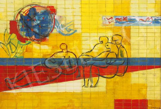 Eladó  Hincz Gyula - Új kor (Hommage á Léger), 1960-as évek festménye