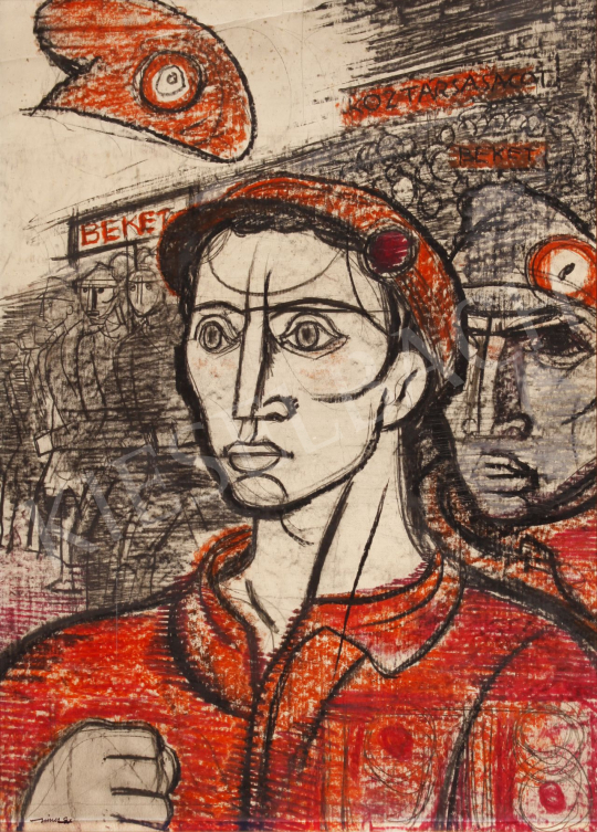 Eladó  Hincz Gyula - Békét, köztársaságot  festménye