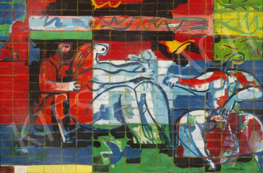 Hincz Gyula - Szerelmespár festménye