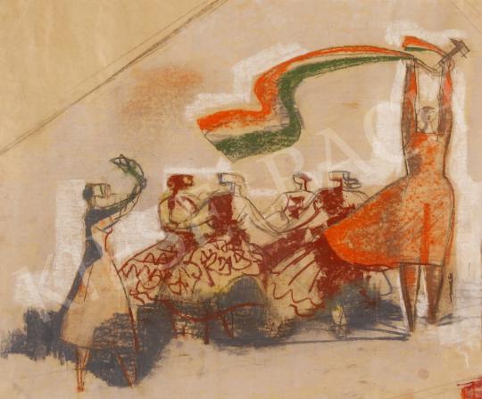 Hincz Gyula - Tánc festménye