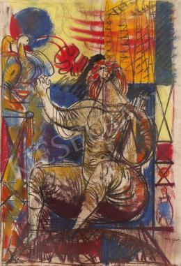 Hincz Gyula - Nőalak (Hommage á Henry Moore)