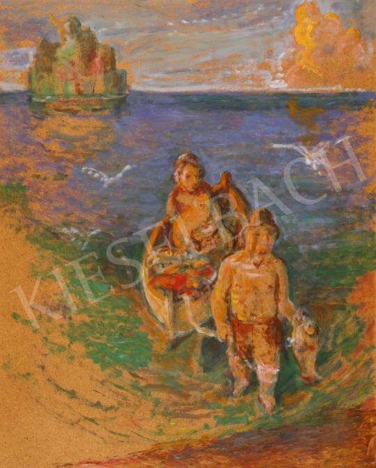 Eladó  Szabó Vladimir - Tengerparti naplemente festménye