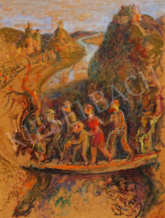 Eladó  Szabó Vladimir - Az élet hídja festménye