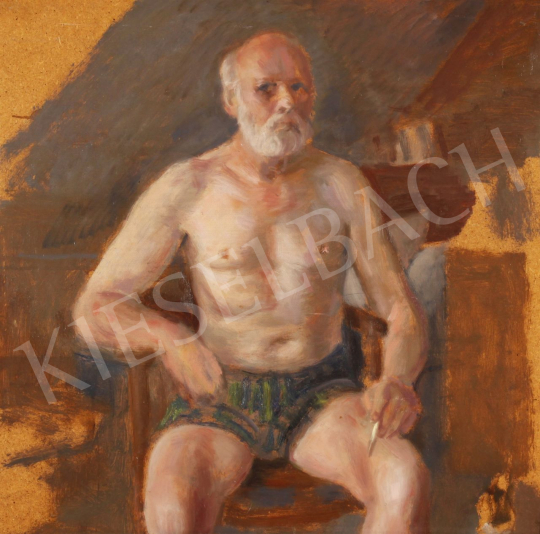 Eladó  Szabó Vladimir - Időskori önarckép, 1986 festménye