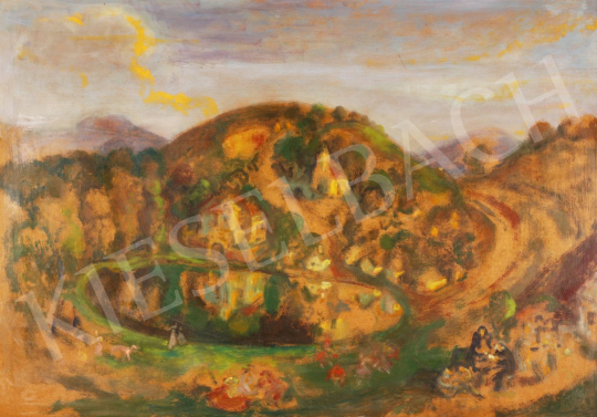 Eladó  Szabó Vladimir - Egy rég vasárnap délután festménye