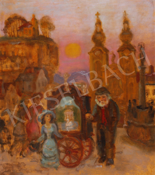Szabó Vladimir - A verkli (Időskori szerelem) festménye
